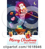 Merry Christmas Best Wishes Greeting With Santa