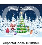 Merry Christmas Greeting With Santa