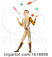 Circus Man Juggling