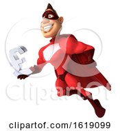 Poster, Art Print Of 3d Buff Red White Male Super Hero On A White Background