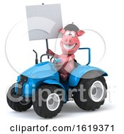 Poster, Art Print Of 3d French Pig On A White Background