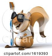 3d Squirrel On A White Background