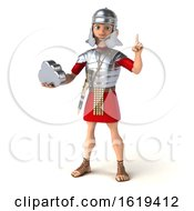 Poster, Art Print Of 3d Young Male Roman Legionary Soldier On A White Background
