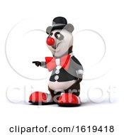 3d Panda Clown On A White Background
