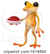 December 13th, 2018: 3d Yellow Frog On A White Background by Julos