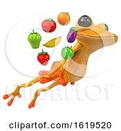 December 14th, 2018: 3d Yellow Frog On A White Background by Julos