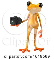December 15th, 2018: 3d Yellow Frog On A White Background by Julos