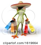 3d Green Mexican Frog On A White Background