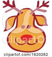 Christmas Reindeer Face