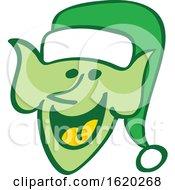 Green Christmas Elf Face