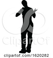 Singer Pop Country Or Rock Star Silhouette by AtStockIllustration