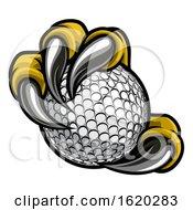 Poster, Art Print Of Eagle Bird Monster Claw Talons Holding Golf Ball