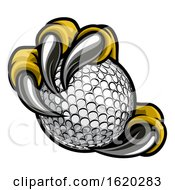 Eagle Bird Monster Claw Talons Holding Golf Ball