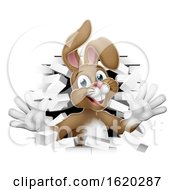 Poster, Art Print Of Easter Bunny Rabbit Coming Out Of Background