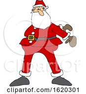 Cartoon Christmas Santa Dancing The Floss
