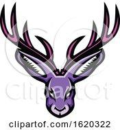 Jackalope Head Mascot