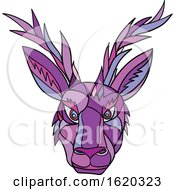 Jackalope Head Front Mosaic