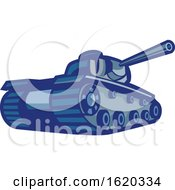 Poster, Art Print Of American World War Two Battle Tank Pointing Its Gun
