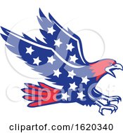 American Eagle Swooping Stars Icon by patrimonio