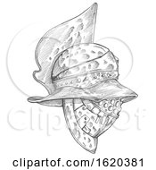 Roman Helmet Zentangle Stylized by Domenico Condello