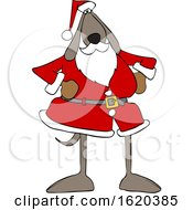 Cartoon Santa Dog