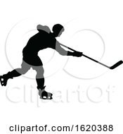 Poster, Art Print Of Hockey Sports Player Silhouettes