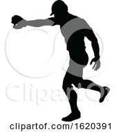 Baseball Player Silhouette by AtStockIllustration