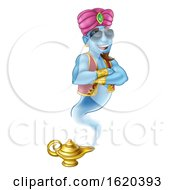 Cool Genie Magic Lamp Aladdin Pantomime Cartoon