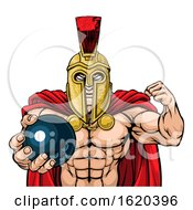 Poster, Art Print Of Spartan Trojan Bowling Sports Mascot