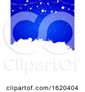 Christmas Festive Winter Blue Background