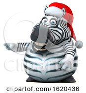 January 22nd, 2019: 3d Christmas Zebra On A White Background by Julos