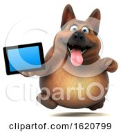 January 22nd, 2019: 3d German Shepherd Dog On A White Background by Julos