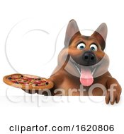 January 16th, 2019: 3d German Shepherd Dog On A White Background by Julos