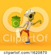 January 16th, 2019: 3d Zombie On A Yellow Background by Julos