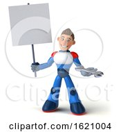 January 16th, 2019: 3d White Male Super Hero In A White Blue And Red Suit On A White Background by Julos