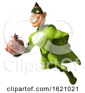 January 16th, 2019: 3d Buff White Male Green Super Hero On A White Background by Julos