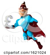 January 16th, 2019: 3d Buff White Male Red And Blue Super Hero On A White Background by Julos