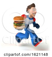 January 18th, 2019: 3d White Male Super Hero In A White Blue And Red Suit On A White Background by Julos
