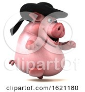 January 18th, 2019: 3d Chubby Breton Pig On A White Background by Julos