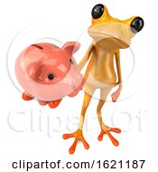 January 18th, 2019: 3d Yellow Frog On A White Background by Julos