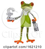 January 18th, 2019: 3d Green Springer Frog Gardener On A White Background by Julos