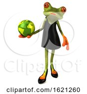 January 18th, 2019: 3d Female Frog On A White Background by Julos