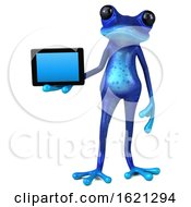 January 18th, 2019: 3d Blue Springer Frog On A White Background by Julos