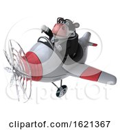 January 21st, 2019: 3d Business Holstein Cow On A White Background by Julos