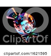 Abstract Clown 3D Illustration
