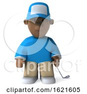 January 22nd, 2019: 3d Black Male Golfer On A White Background by Julos