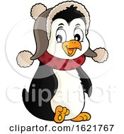 Christmas Penguin Wearing A Winter Hat