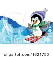 Christmas Penguin Skiing