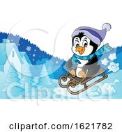 Christmas Penguin Sledding