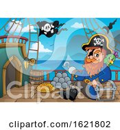 Pirate Captain On A Ship Deck
